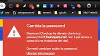 Avviso cambio password se compromessa o già usata