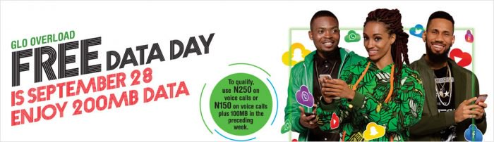Glo declares 28th Sept As Free Data Day, See How To Be Eligible
