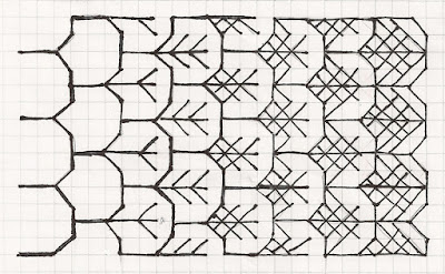 diaper pattern with added elements for increasing density