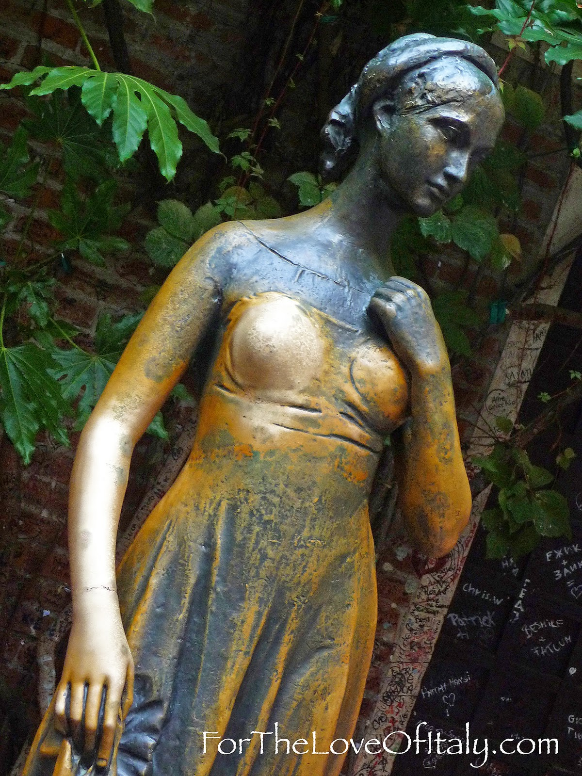 The Bronze Statue Of Juliet In Verona, Italy