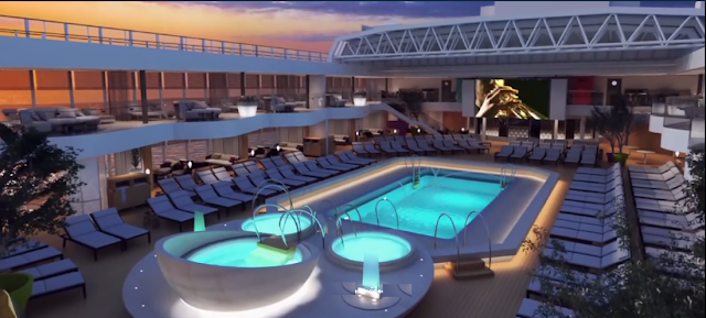 Holland America's Koningsdam Pool Area