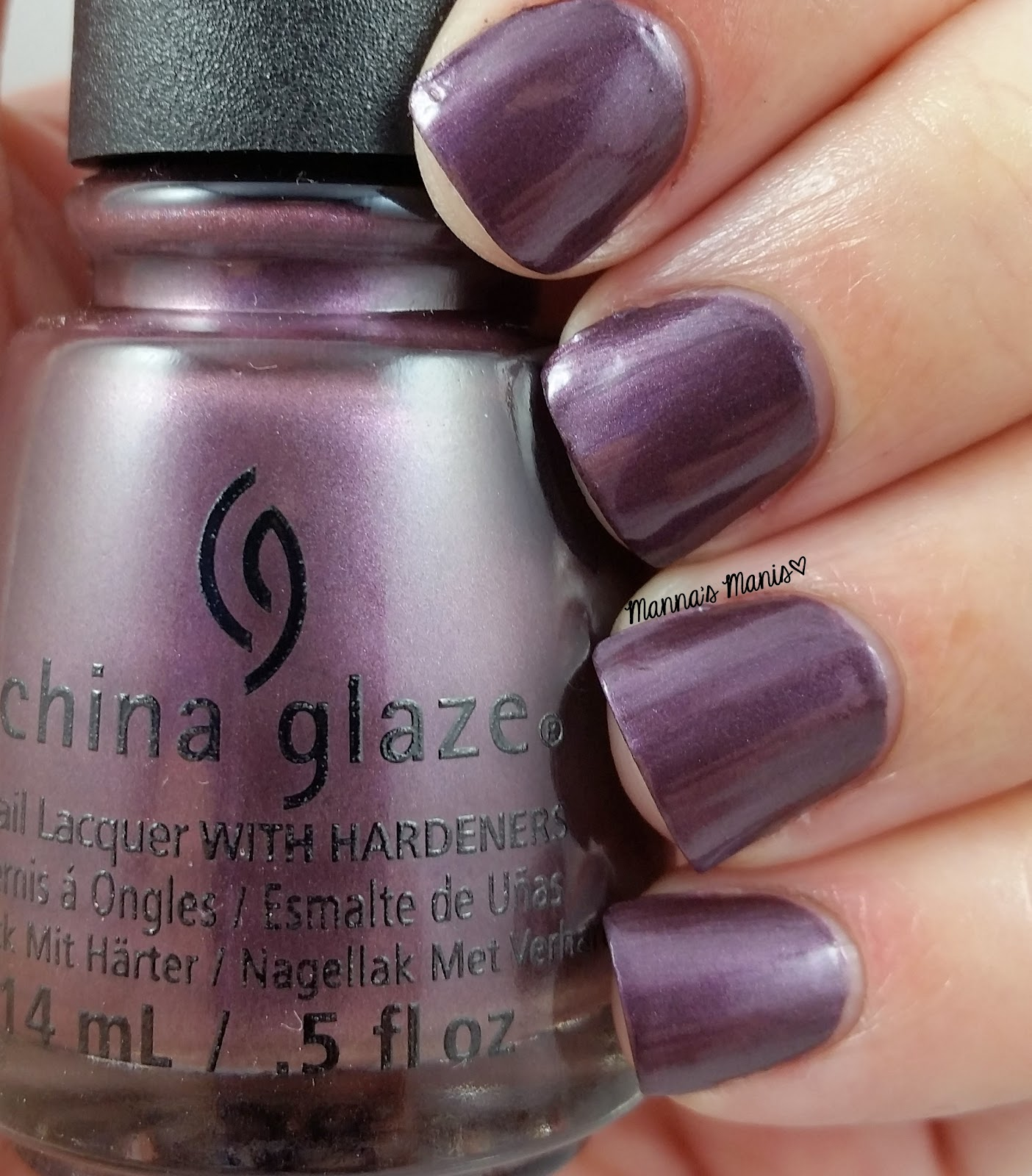 china glaze no peeking, a purple shimmer nail polish