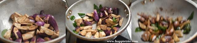 Step 5 - Brinjal Podi Curry Recipe | Katharikai Podi Curry