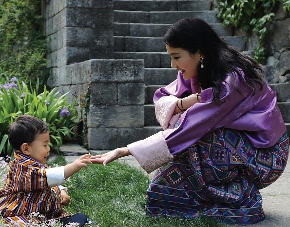 New June 2017 calendar bearing the photos of Queen Jetsun Pema of Bhutan and her young son Prince Jigme Namgyel Wangchuck