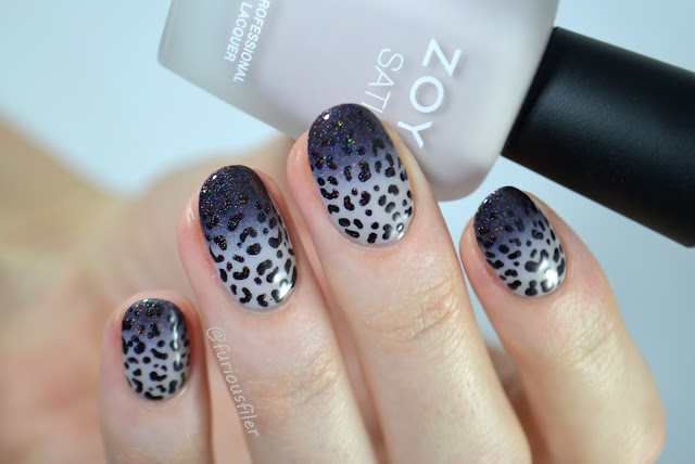 egdy faded gradient animal print black holo badass