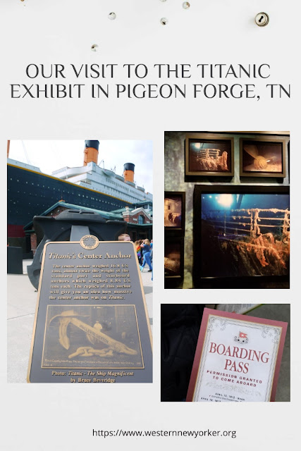 Our Visit to the Titanic Exhibit in Pigeon Forge, TN