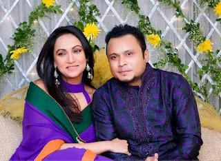Mishu Sabbir And His Wife Shamma Holud Wedding Photos With Actress Bindu