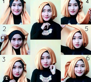 Hijab Segi Empat Satin Simpel Glamour