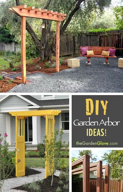 Flowers Gardens How To Build A Simple Garden Arbor