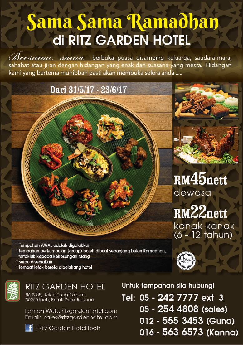 buffet ramadhan the ritz hotel ipoh
