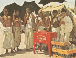 Very Old Rare Images of Hajj, drinking Coca cola by Haji
