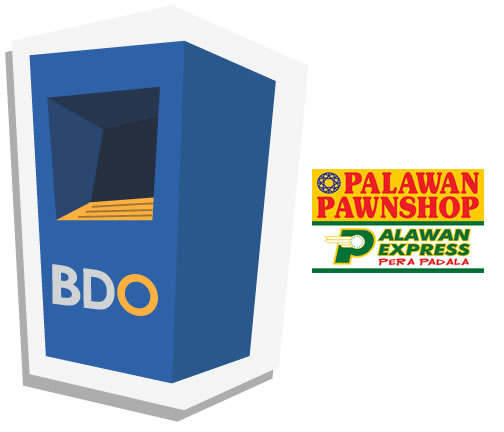 List of BDO Branches for Palawan Pawnshop Cash Card & ATM Withdrawals