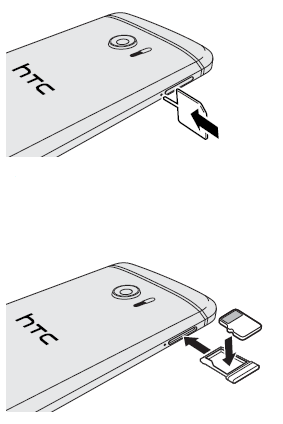 Inserting the microSD card