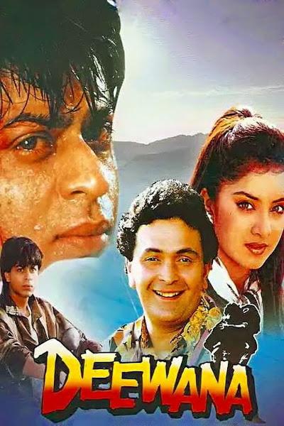 Poster of Deewana (1992) Full Movie Hindi 720p HDRip ESubs Download
