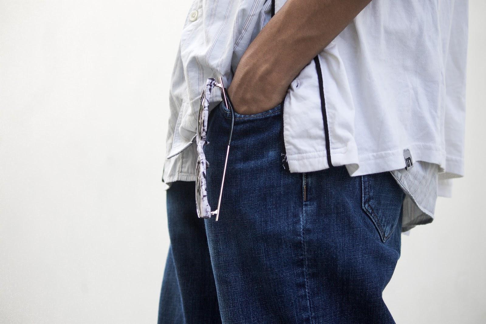 TheQuirkyMinimal by Kangkan Rabha Indian Menswear fashion blog denim-diy-how-to-do-raw-hem-jeans-menswear