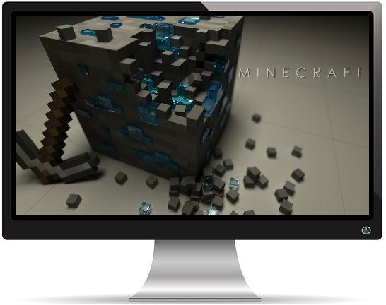 Minecraft Ore Pickaxe Mojang - Fond d'écran en Ultra HD 4k 2160p