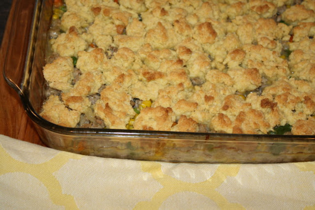 Featured Recipe // Chicken Pot Pie with Cornbread Crust from Our Eating Habits