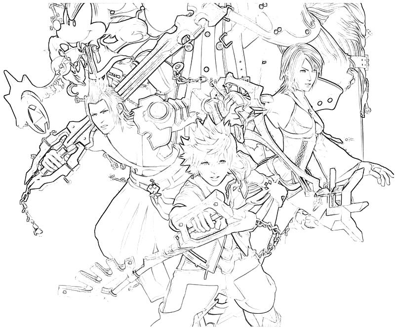 Xion Kingdom Hearts Pages Coloring Pages