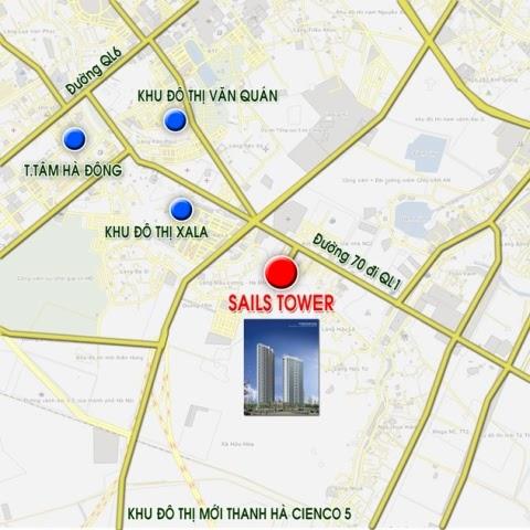 Vị trí sails tower trên bản đồ
