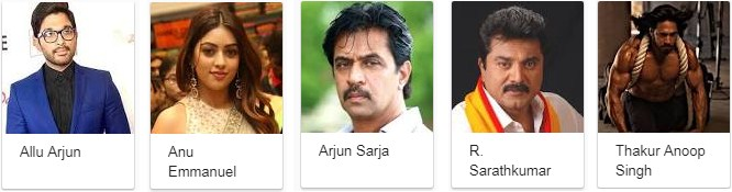 Star Cast of Naa Peru Surya