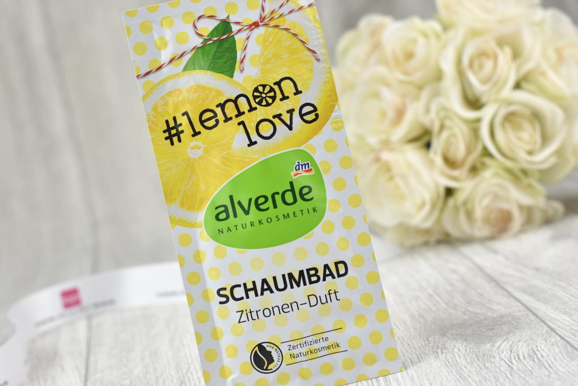 Inhalt beautypress News Box Dezember 2018 - alverde Naturkosmetik - Schaumbad Zitronen-Duft