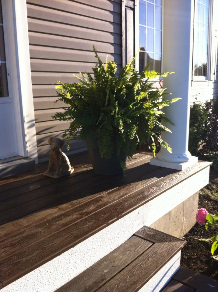 White Wood : Porch And Entry Makeover Reveal