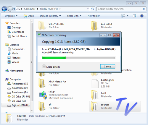 Membuat Installer Windows XP, Vista, 7, 8, dan 10 Dengan (HDD) Harddisk Eksternal 2
