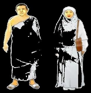 contoh pakaian ihram laki dan wanita