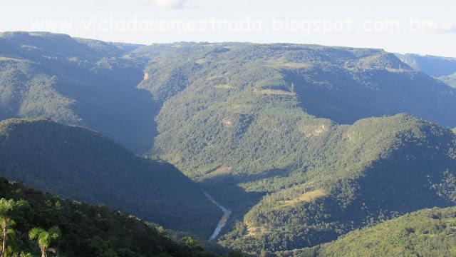 Vista panorâmica do Rio Caí, do alto da Torre, Nova Petrópolis, Serra Gaúcha