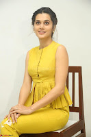 Taapsee Pannu looks mesmerizing in Yellow for her Telugu Movie Anando hma motion poster launch ~  Exclusive 018.JPG