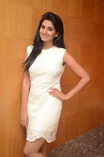 Shamli Cute Indian model in beautiful short cream dress long hairs