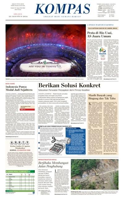 Kompas Edisi Selasa 23 Januari 2016