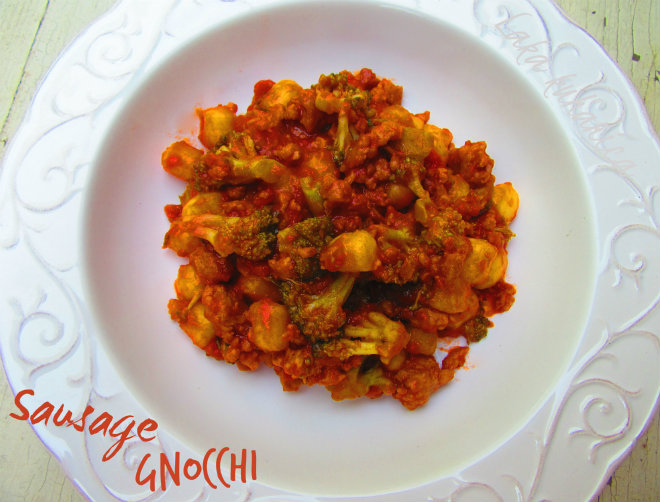 Sausage gnocchi by Laka kuharica: hearty and comforting dish that is easy to make and quick to cook.