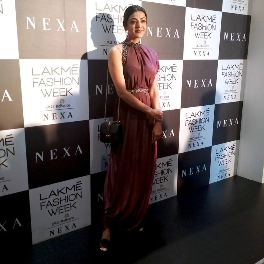 Kajal Aggarwal at Lakme Fashion Week 2018