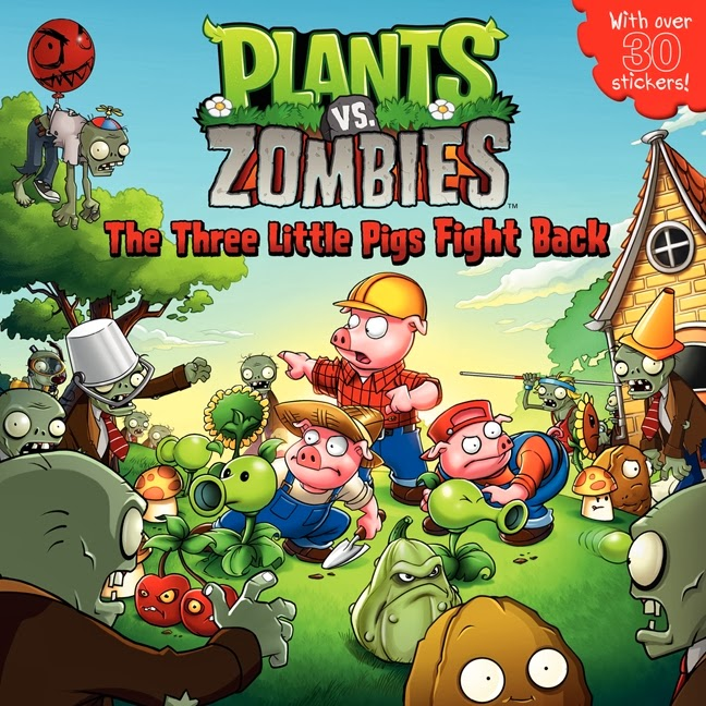 kiss the book plants vs zombies the three little pigs fight back by