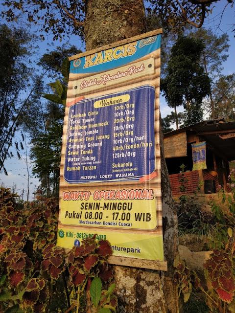 Tarif Spot foto Claket Adventure Park Pacet