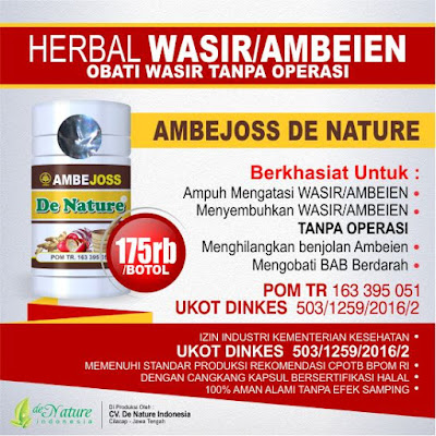 OBAT WASIR TANPA OPERASI - Merk Obat Wasir Tradisional Yang Mujarab Tanpa Harus Operasi