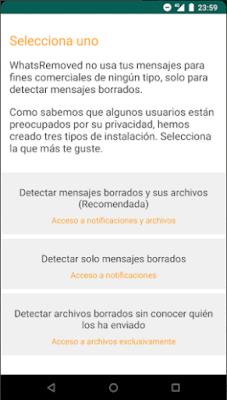 Ventajas de WhatsRemoved