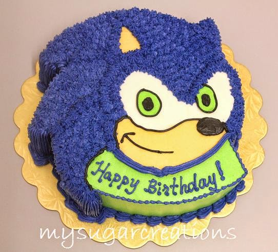 My Sugar Creations 001943746 M Sonic The Hedgehog Cake