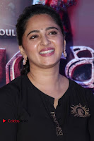 Actress Anushka Shetty Stills in Black Gurthi at Baahubali 2 Press Meet  0003.jpg