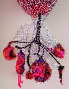 Knitted Wire and Fiber Art