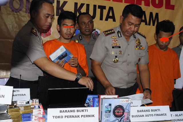 Bobol Toko di Banda Aceh, Sindikat Asal Bireuen Ditangkap Polisi