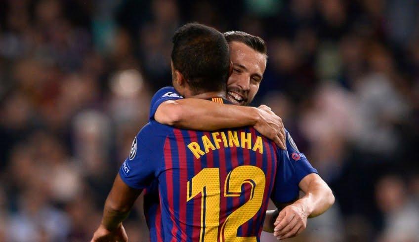 Barcellona-Inter Risultato finale 2-0 gol Jordi Alba (83') Rafinha (32').