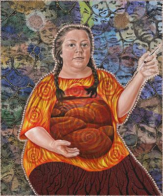Self Portrait- Budjarri (Pregnant) (2005), Julie Dowling