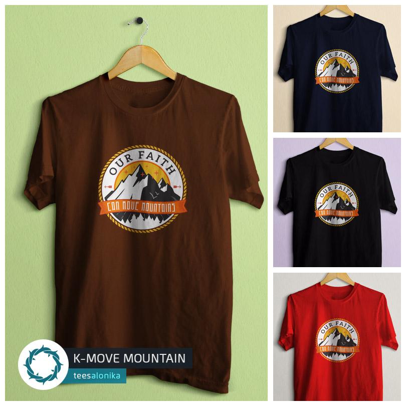 Pratinjau tampilan kaos rohani Teesalonika tentang iman (Move Mountain)