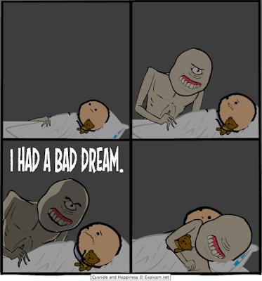 Meme sobre monstruos y pesadillas