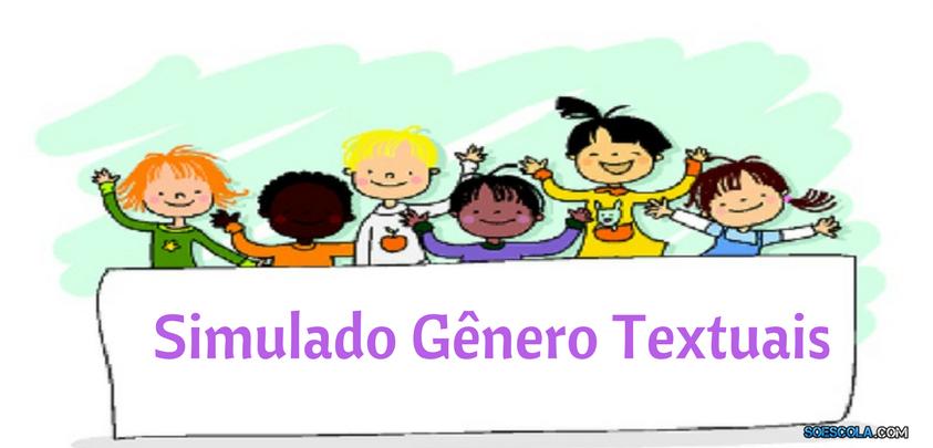 Simulado De Generos Textuais Com Gabarito So Escola