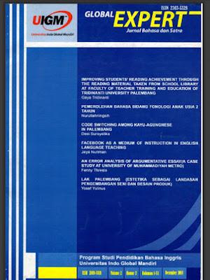 GLOBAL EXPERT - FENNY THRESIA - AN ERROR ANALYSIS OF ARGUMENTATIVE ESSAY (A CASE STUDY AT MUHAMMADIYAH UNIVERSITY OF METRO)