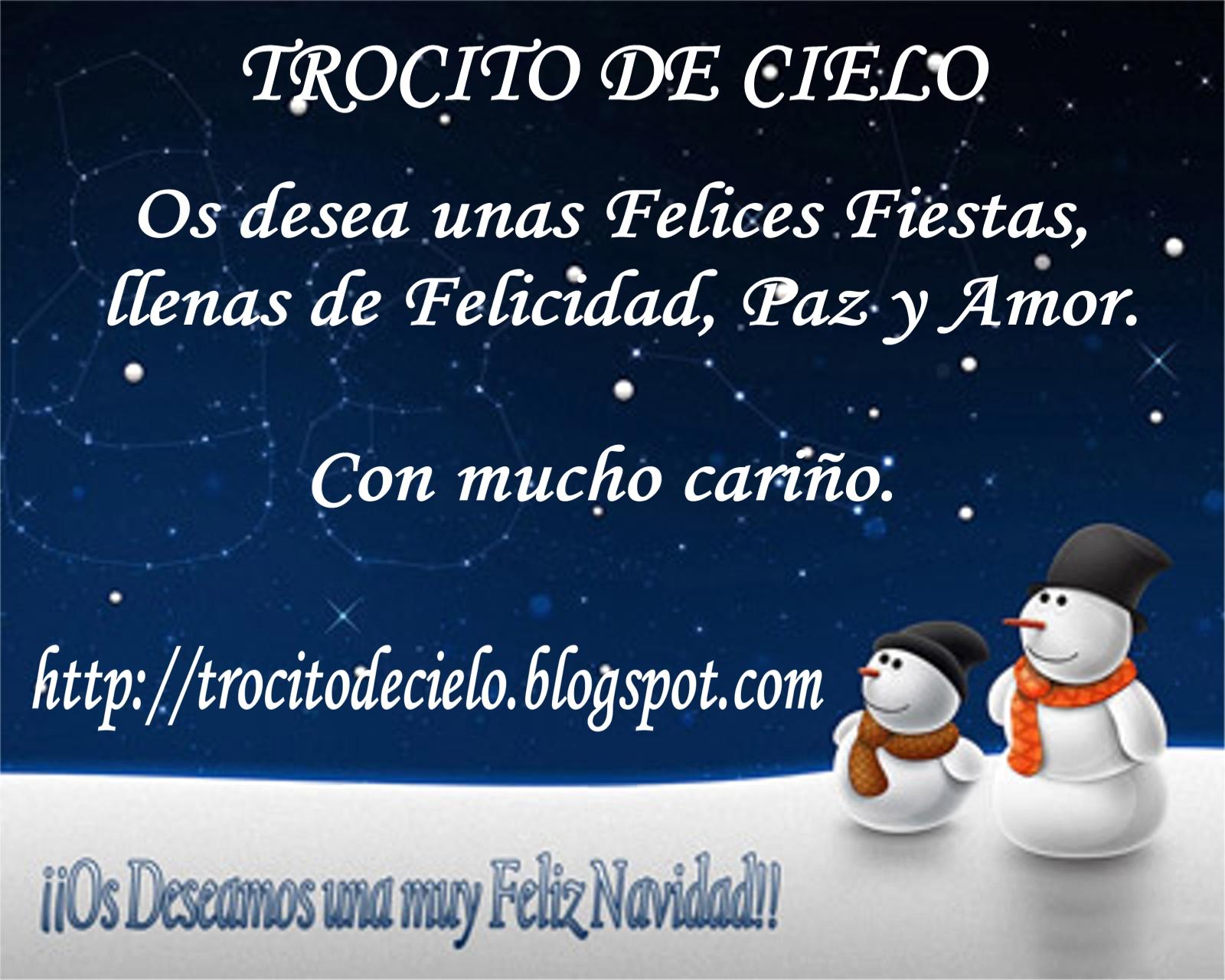 Feliz Navidad Siempre Asi.Trocito De Cielo Feliz Navidad Familia Bloguera Y Gracias
