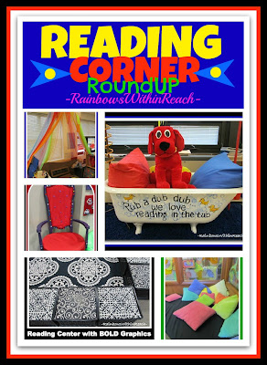 photo of: Reading Corner RoundUP: Inviting Centers for Inspiring Reading via RainbowsWithinReach